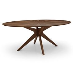 The mid-century Scandinavian design of Aeon's Brockton oval dining table is not only characteristically simple and functional but exudes an aesthetic beauty as well. The Brockton's 4-legged center frame is expertly crafted from Solid Oak available in natural or a stained rich walnut finish. Its 75″ oval veneered wood 18 mm thick top reveals an inviting starburst design that evokes a calming effect, further enhancing your dining experience. The Brockton-Oval comfortably seats up to 8 guests.