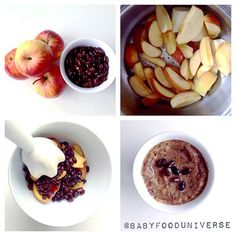 Black bean and apple baby food puree - suitable from 6 months - 7 months