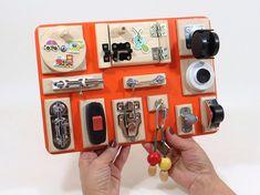 Busy Board Sensory Wooden Childrens Fine Motor Travel