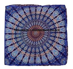 Indian-Square-Mandala-Floor-Pillow-Case-Boho-Throw-Cushion-Ottoman-Pouf-Dog-Bed