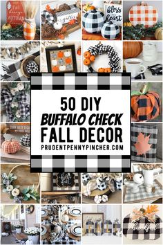 Give your autumn decorations a neutral farmhouse style on a budget with these DIY buffalo check fall decor ideas. From DIY wall art to fall centerpieces, there are plenty of fall decor ideas for the home. These DIY fall decorations will compliment your farmhouse decor and rustic home decor. Buffalo Check, Buffalo Print, Buffalo Plaid, Fall Crafts, Decor Crafts, Diy Crafts, Creative Crafts, Thanksgiving Decorations, Autumn Decorations