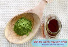 Bột trà xanh kết hợp cùng mật ong giúp tái tạo làn da mới cho bạn