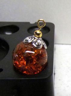 Cracked Marbles, Drop Earrings, Orange, Dark, Trending Outfits, Pendant, Unique Jewelry, Handmade Gifts, Vintage