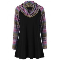 SHARE & Get it FREE | Cowl Neck Colorful Striped T-ShirtFor Fashion Lovers only:80,000+ Items·FREE SHIPPING Join Dresslily: Get YOUR $50 NOW!