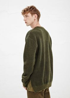 A.P.C. Kanye Army Sweater in Kaki Chine — http://man.totokaelo.com/apc/army-sweater/kaki-chin/P13465