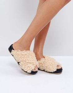 £30 ASOS FURRY Sliders