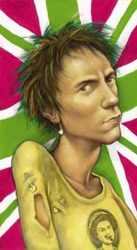 John Lydon by Anita Kunz. I never tire of her beautiful style.