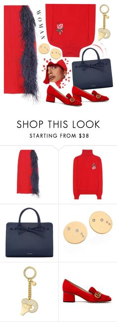 """""""Red  aries"""" by shudenbaun ❤ liked on Polyvore featuring Prada, Gucci, Mansur Gavriel, MICHAEL Michael Kors, red, Blue, gucci, Horoscope and Aries"""