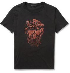 Alexander McQueenSkull-Print Cotton T-Shirt
