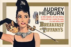 Audrey Hepburn - Breakfast at Tiffany's Gold One-Sheet Photo - AllPosters.co.uk