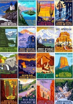 national park postcards