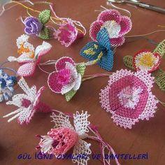 İğne oyası (Turkish needle lace).
