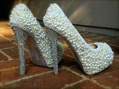 Pearl stilettos. ...