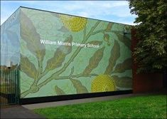Colourful and Creative Wall Cladding Printing on Aluminium Panels the brighten up school in London, colourful and Creative printed aluminium panels Schools In London, Wall Cladding, Creative Walls, William Morris, Wall Prints, Wraps, Game, Printed, Building