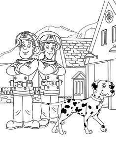 malvorlagen feuerwehrmann sam 24 | kinder | fireman sam, fireman sam cake und fireman birthday