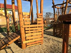 Detail acacia game element,kindergarten Czech Republik-Jiříkov