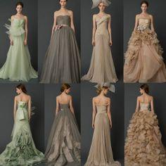Noiva com Classe: Editorial Vogue: vestidos de noiva coloridos & multicoloridos Vera Wang