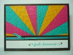 A Fanatical Stamper: Sunburst Card