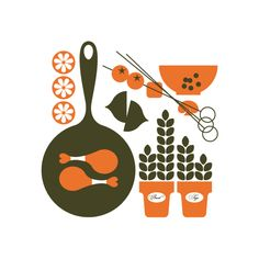 Cookbook illustrations for Storey Publishing by Bo Lundberg