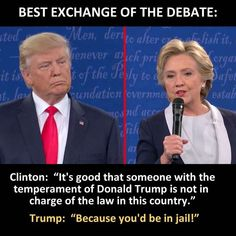 I 4 sure am not a trump fan, but I did think this was the best quote of the debate. Michelle Obama Quotes, Trump Is My President, Vote Trump, Pro Trump, Trump Wins, President Quotes, Political Quotes, Political Views, Political Corruption