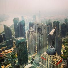 View from Pearl Tower. Shanghai