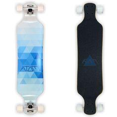 Atom Blue Triangles Drop Deck 39 inch Longboard Drop Deck Longboard, Drop Through Longboard, Board Skateboard, Skateboard Girl, Longboard Design, Skateboard Design, Longboarding, Wakeboarding, Atom Longboards
