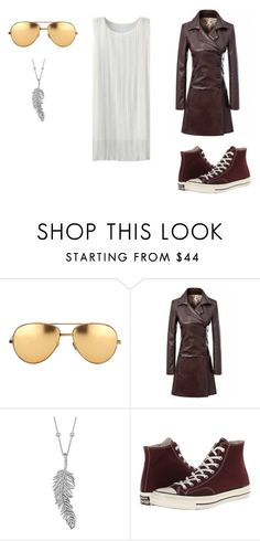 """""""OUT OF TOWN"""" by haleybranson on Polyvore featuring Linda Farrow, Penny Preville and Converse"""