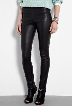 Black Stretch Leather Leggings by Joseph £675