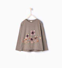 Image 1 of Plush floral top from Zara
