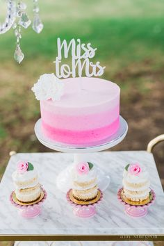Miss to Mrs. bridal shower cake topper! It doesn't get any sweeter than this!