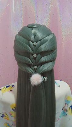 Baby Girl Hairstyles, Bun Hairstyles For Long Hair, Braids For Long Hair, Braided Hairstyles, Hair Up Styles, Medium Hair Styles, Hair Style Vedio, Hair Tutorials For Medium Hair, Simple Bridesmaid Hair