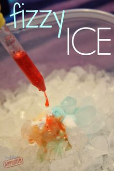 Ice {Science Activity for Kids} Toddler Approved!: Fizzy Ice {Science Activity for Kids} that is perfect for your preschool winter theme.: Fizzy Ice {Science Activity for Kids} that is perfect for your preschool winter theme. Science Activities For Kids, Toddler Activities, Science Ideas, Science For Preschoolers, Toddler Fun, Science Classroom, Science Activities For Toddlers, Science Projects For Kids, Elementary Science