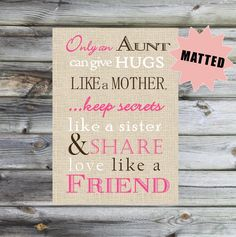 MATTED+Aunt+Sister+Gift+Print+Only+and+Aunt+can+by+PoppyseedPrints,+$15.00