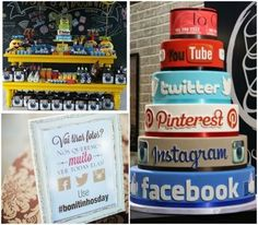 A festa redes sociais tem tudo a ver com os antenados às redes e é um tema que vai bem para adolescentes e adultos. Que tal preparar uma festa