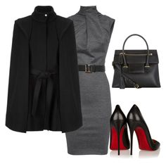 """""""She is the Ceo"""" by kai-d-kloset on Polyvore featuring Dsquared2, Christian Louboutin, Tom Ford and Maje"""
