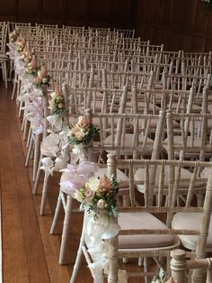 Rose & Orchid Pew Ends