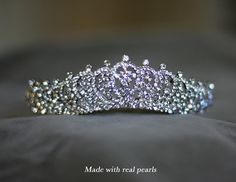 Crystal Tiara Wedding Hair Accessory Headpiece by Lolambridal, $118.00- This style tiara