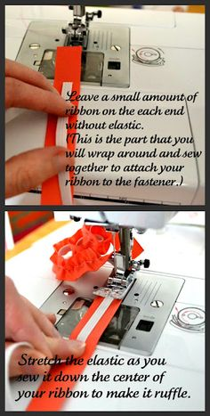 HOW TO make ruffled straps, suspenders... works with ribbon or lace