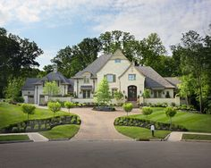 A circular driveway offers plenty of parking for visitors   Gorgeous ...