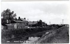 R.P. POSTCARD CANAL-BRIDGE & RAILWAY-HOUSES-RECTORY ROAD-OUTWELL VILLAGE-NORFOLK | eBay