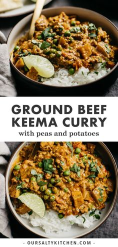 This Keema Curry is an incredibly flavorful ground beef curry with peas, potatoes, tomatoes, and coconut milk. It's perfectly spiced but not too spicy, and ready in 40 minutes. Easy to cook and super Korma, Biryani, Beef Keema, Ground Beef Seasoning, Chana Masala, Garam Masala, Masala Tea, Sin Gluten, Gluten Free