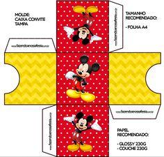 Convite Caixa Tampa Mickey: