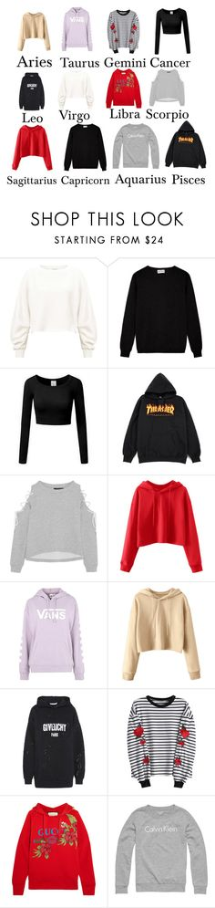 """""""The signs"""" by riannamn ❤ liked on Polyvore featuring Miss Selfridge, W118 by Walter Baker, Vans, Givenchy, Gucci and Calvin Klein"""