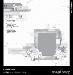 Layout: design honey sketch no. 014