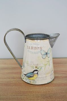 Bird & Butterfly Jug Garden Gifts, Sweet Home, Shed, Shabby, Butterfly, Outdoor, Accessories, Decor, Outdoors