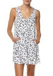 polly button thru day dress, WILD FLOWER GARDENIA