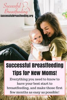 Successful Breastfeeding Tips for New Moms! Everything you need to know to have your best start and make breastfeeding in the early months as easy as possible! Breastfeeding tips, breastfeeding hacks, breastfeeding milestones, preparing to breastfeed, p Breastfeeding Supplements, Breastfeeding Classes, Breastfeeding Positions, Breastfeeding Support, Waiting For Baby, Getting Ready For Baby, Preparing For Baby, How To Breastfeed Newborns, New Baby Checklist