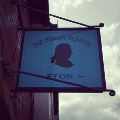 What are they teaching these kids? #eton #windsor #england #greatbritain #weirdnames #porny