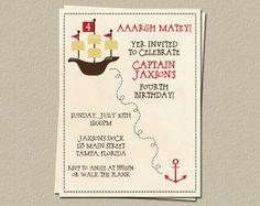 Pirate Birthday Invitations Birthday Party by TheInviteLadyShop, $7.50