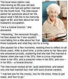 Old people are funny.
